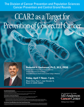 CCAR2 as a Target for Prevention of Colorectal Cancer