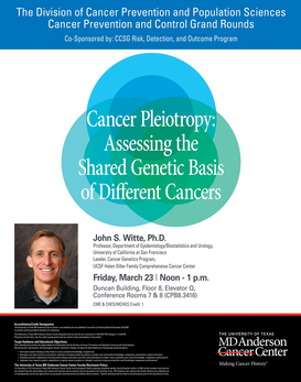 CPC Grand Rounds - Cancer Pleiotropy: Assessing the Shared Genetic Basis of Different Cancers