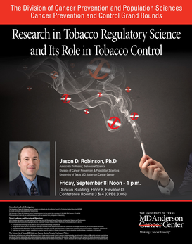 CPC Grand Rounds - Research in Tobacco Regulatory Science and its Role in Tobacco Control