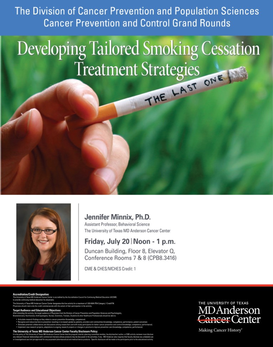 Cancer Prevention & Control Grand Rounds - Developing Tailored Smoking Cessation Treatment Strategies