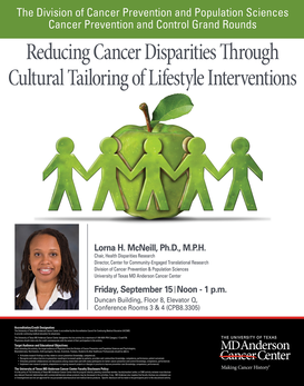 CPC Grand Rounds - Reducing Cancer Disparities through Cultural Tailoring of Lifestyle Interventions