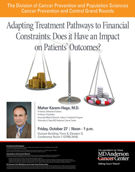 CPC Grand Rounds - Adapting Treatment Pathways to Financial Constraints: Does it Have an Impact on Patients' Outcomes?