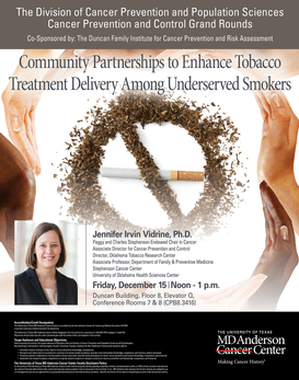 CPC Grand Rounds - Community Partnerships to Enhance Tobacco Treatment Delivery Among Underserved Smokers
