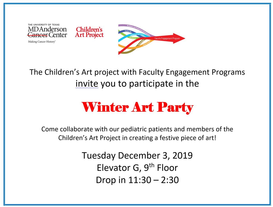 Children's Art Project:  Winter Art Party (Collaboration with Children's Art Project and Faculty Engagement Programs)