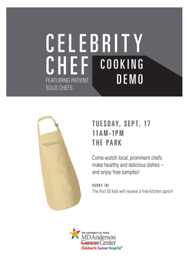Children's Cancer Hospital's Celebrity Chef Event