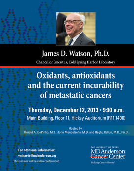 Distinguished Guest Lecturer: James D. Watson, Ph.D.