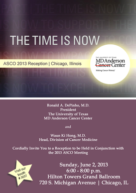 MD Anderson reception at ASCO 2013