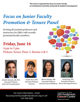 Focus on Junior Faculty:  Promotion and Tenure Panel