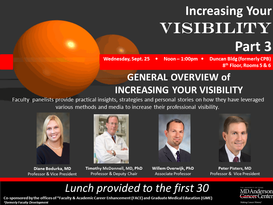 Series on Increasing Your Visibility Part 3:  General Overview of Increasing Your Visibility