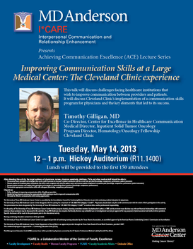 Achieving Communication Excellence Lecture Series: