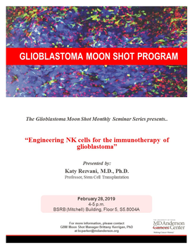 Engineering NK cells for the immunotherapy of glioblastoma