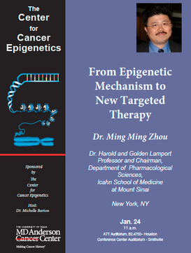 The Center for Cancer Epigenetics Distinguished Lecture