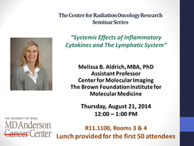 The Center for Radiation Oncology Research - Seminar Series