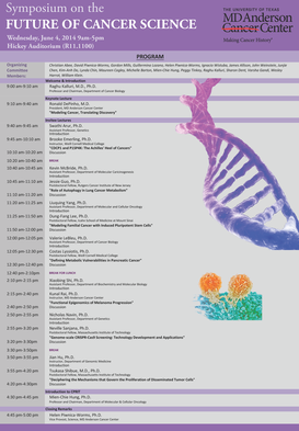 Symposium on the FUTURE OF CANCER SCIENCE